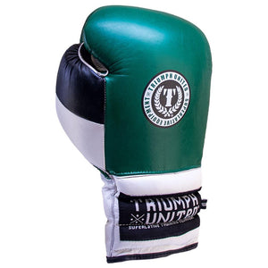 Death Adder Lace Up Sparring Glove- Green/White/Black