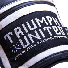 Load image into Gallery viewer, TU Death Adder Sparring Gloves - Velcro - Black/White - Triumph United