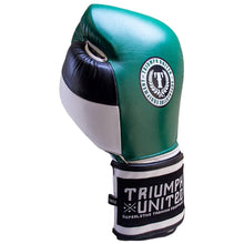 Load image into Gallery viewer, Death Adder Velcro Sparring Glove - Green/White/Black