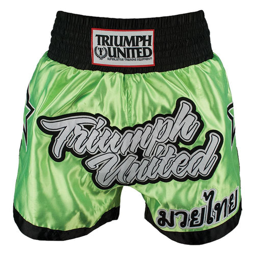 Triumph United Men's Thai Shorts- Green/Black
