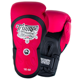 "Tiger 1 Series ""Bloods"" Pro Muay Thai Gloves Red/Black - Triumph United"