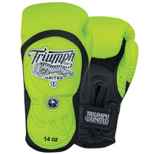 "Load image into Gallery viewer, Tiger 1 ""Highlighter"" Series Pro Muay Thai Gloves Yellow/Black - Triumph United"