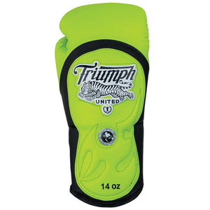"Tiger 1 ""Highlighter"" Series Pro Muay Thai Gloves Yellow/Black - Triumph United"
