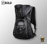 3D Skull Leather Backpack with Hood Cap-BOLD InStyle