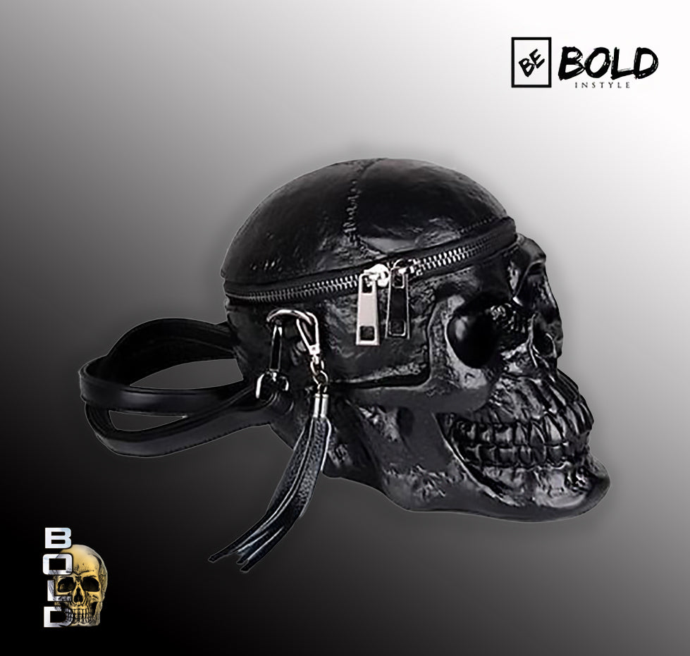 Black 3D Skull handbag for Women-BOLD InStyle