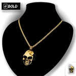 Gothic Skull Stainless Steel Chain Necklace-BOLD InStyle