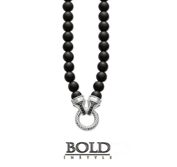 Obsidian Beads Necklace-BOLD InStyle