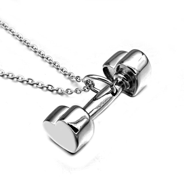 Heart Dumbbell Pendant & Necklace-BOLD InStyle