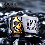 ONLY THE TRUTH Half Skull Stainless Steel Ring-BOLD InStyle