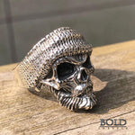 Bearded Rock Biker Silver Ring-BOLD InStyle