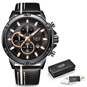 LIGE Military Big Dial Chronograph Watch-BOLD InStyle