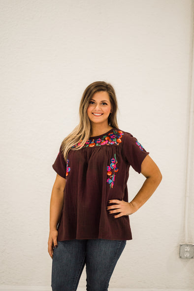 Clearly Chic Embroidered Top