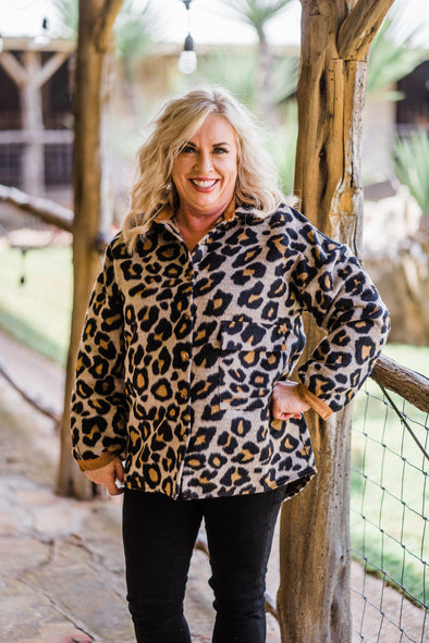 Cheetah Button Up Jacket