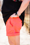 Ivy Jane Balloon Sleeve Top In Coral
