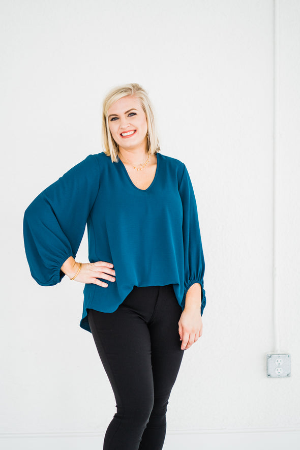 Pretty in Teal Top