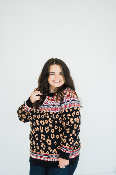 Swoon Leopard Sweater-Plus
