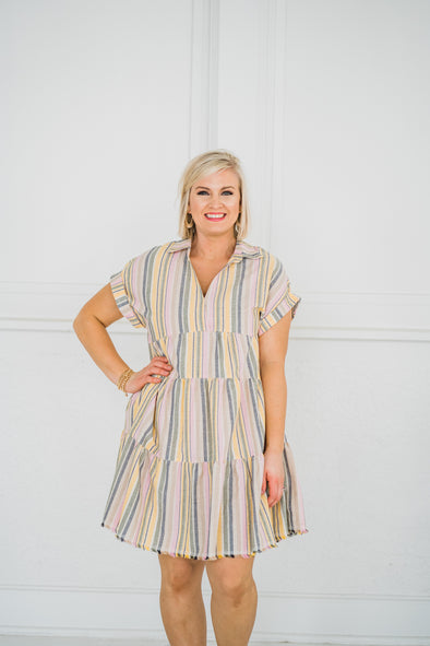 Uncle Frank Dreamsicle Stripe Dress