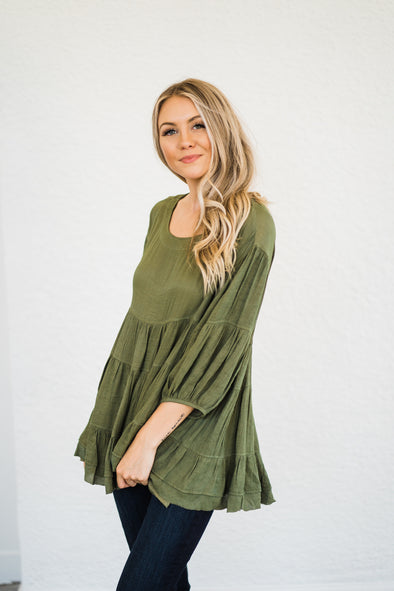 Olive love Babydoll Top