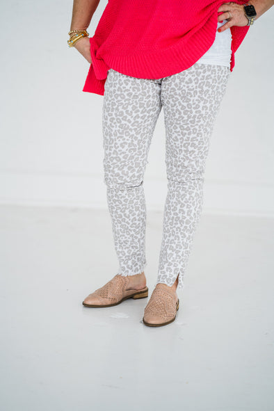 Rory White Leopard Jeans