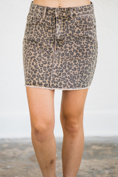 Stevie Leopard Skirt