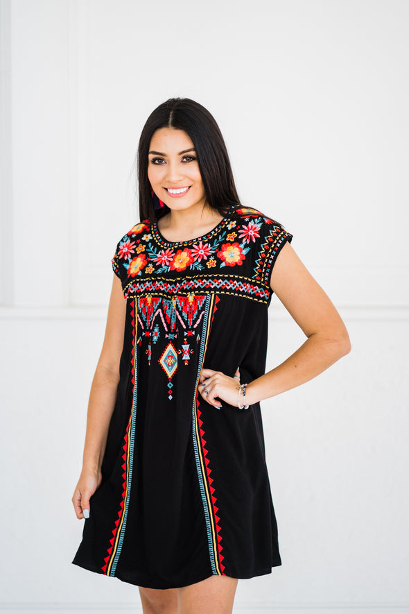 Seaside Embroidered Dress