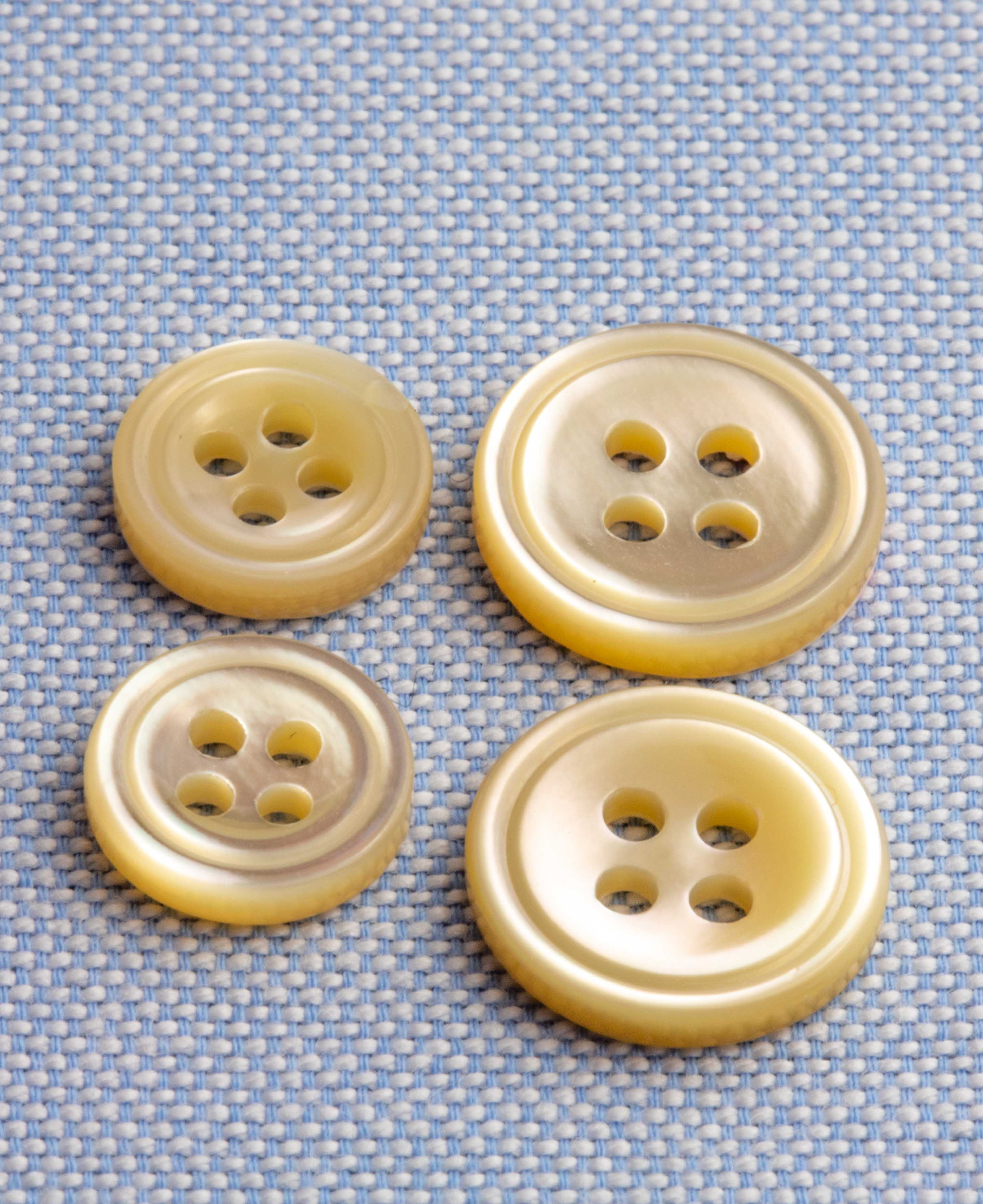 Small Beige Mother of Pearl Buttons