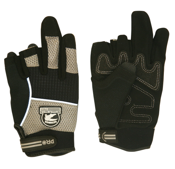 Gatorback 633 Fingerless Work Gloves - Gatorback Tool Belts