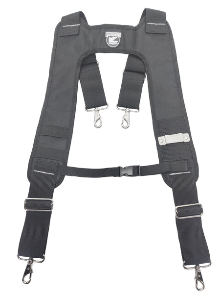 Gatorback B616 Deluxe Suspender Harness w/Molded Air Channel Shoulder & Neck Padding, Chest Strap & Metal Spring Hooks (Suspenders)