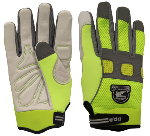 Gatorback 635 High Visibility Goat Skin Leather Work Gloves - Gatorback Tool Belts