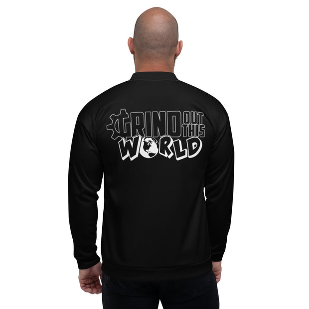 "The ""G"" in Grind Black Unisex Bomber Jacket"