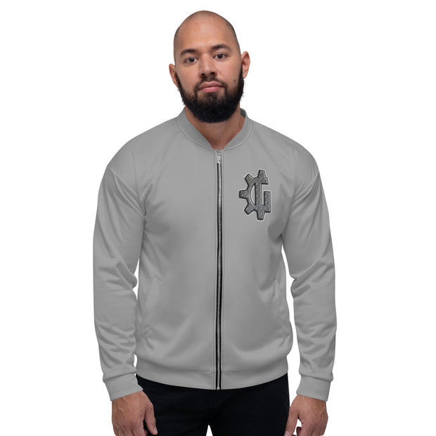 "The ""G"" in Grind Grey Unisex Bomber Jacket"