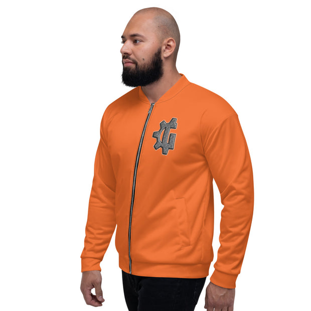 "The ""G"" in Grind Orange Unisex Bomber Jacket"