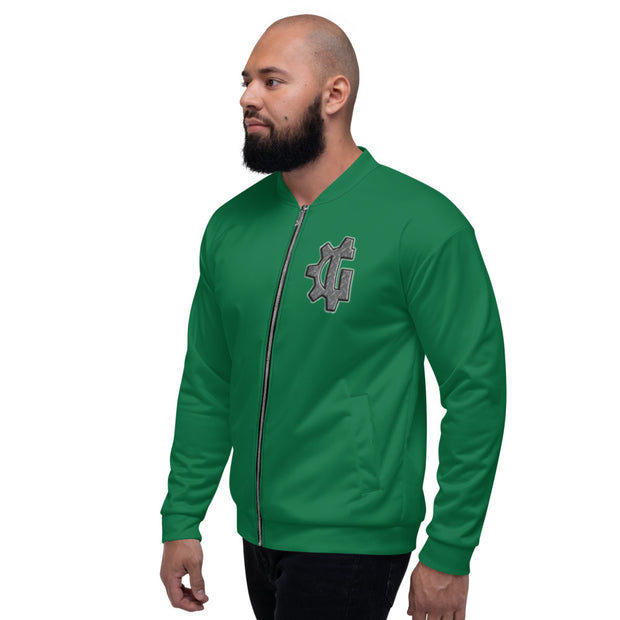 "The ""G"" in Grind Green Unisex Bomber Jacket"