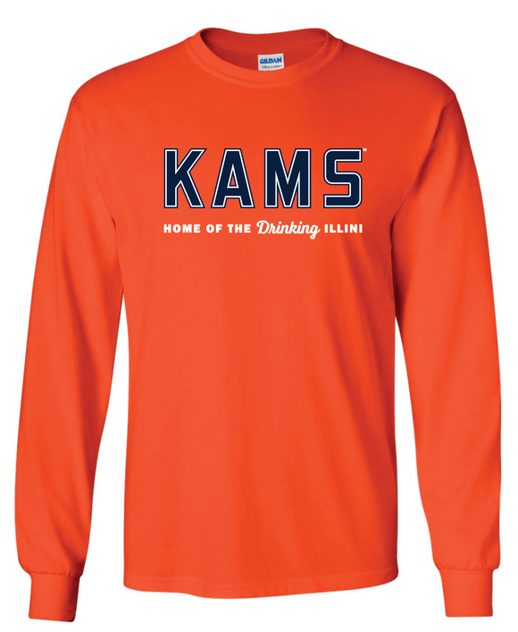 KAMS Logo Long Sleeve T-Shirt (Orange)