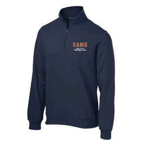 KAMS Navy 1/4 Zip Sweatshirt