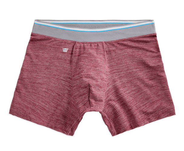 Porto Heather | Front view of AirknitX Boxer Briefs in Porto Heather