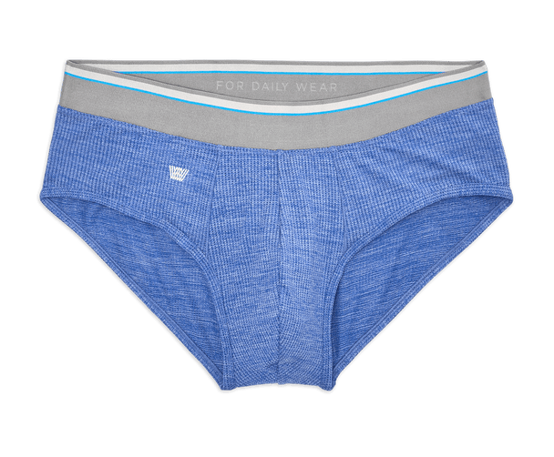 Skydiver Heather | Front view of Airknitx Brief in Skydiver Heather