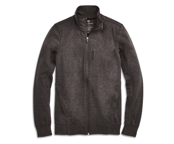 Charcoal Heather | Front view of Atlas Jacket in Charcoal Heather