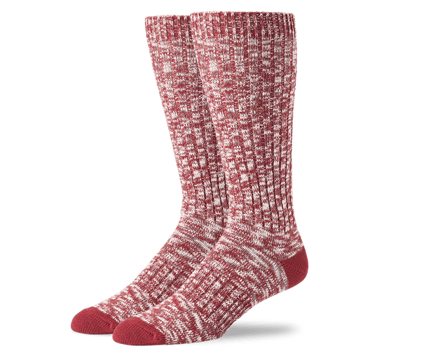 Crimson | Front view of Boot Extended Crew Sock in Crimson