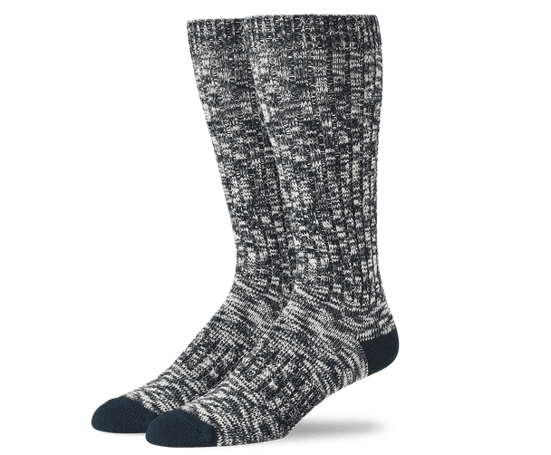True Navy | Front view of Boot Extended Crew Sock in True Navy