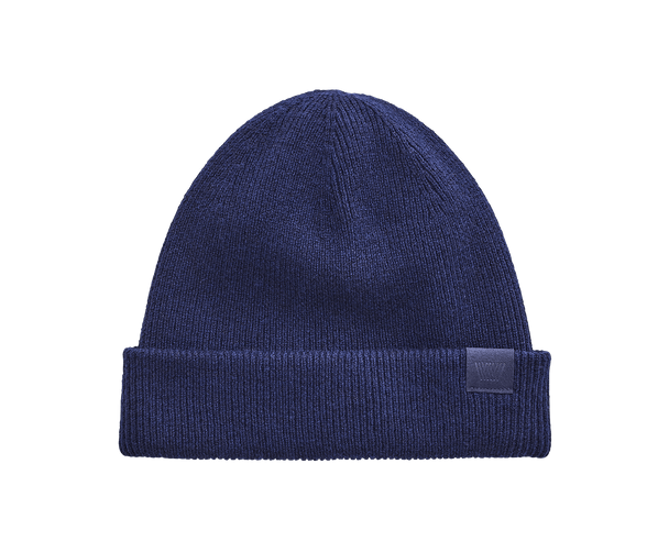 Total Eclipse | Front view of Tech Cashmere hat in Total Eclipse blue