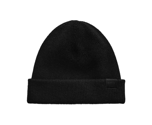 True Black | Front view of Tech Cashmere hat in True Black