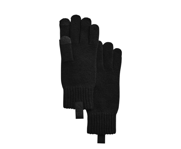 True Black | Tech cashmere gloves in True Black