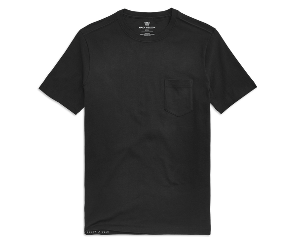 True Black | Front view of DRYKNIT Crew Neck T-Shirt in True Black