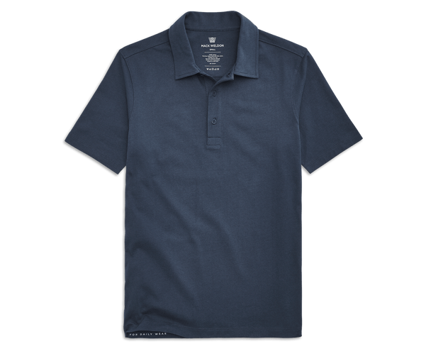 True Navy | Front view of DRYKNIT Polo in True Navy