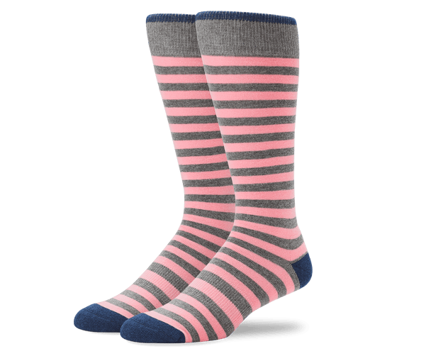 Grey Heather / Cava | Front view of Everyday Extended Crew Sock in Grey Heather / Cava