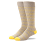 Desert Heather / Citron Morsecode | Front view of Everyday Extended Crew Sock in Desert Heather / Citron Morsecode