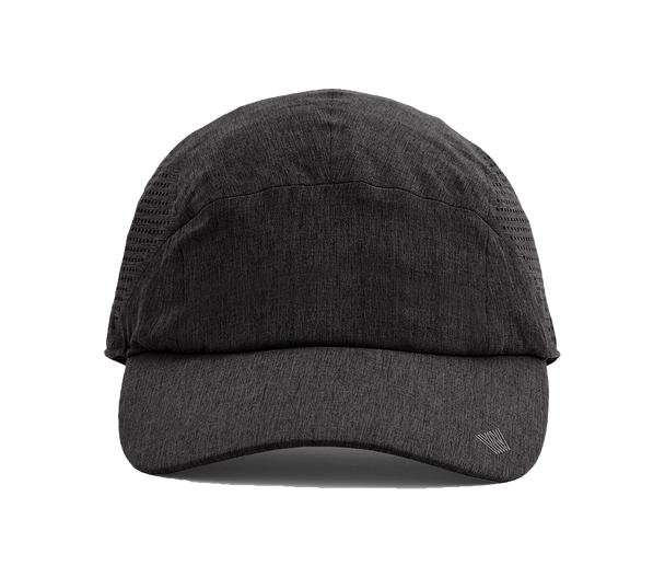 Charcoal Heather | Front view of Airflex charcoal heather grey hat