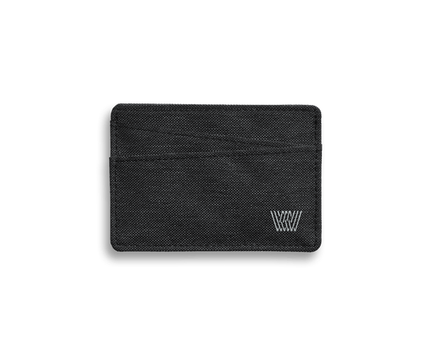 Black Sky | Front view of Ion Card Case in Black Sky