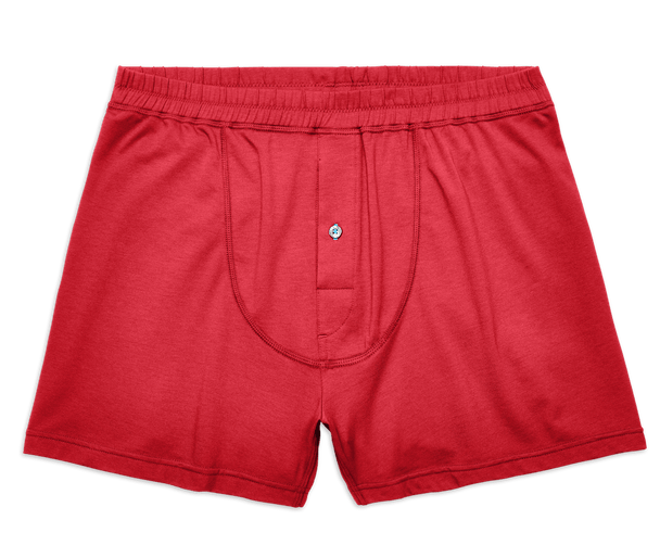 Warrior Red | Front view of 18-Hour Knit Boxer in Warrior Red